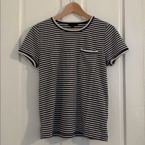 J.Crew striped tee with pocket